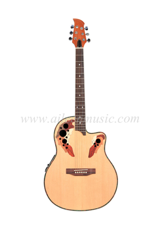 "[Aileen] 41 ""4-Band EQ Round Back Ovation guitarra eléctrica (AFO129CE)"